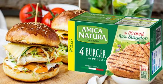 hamburger di pollo Amica Natura