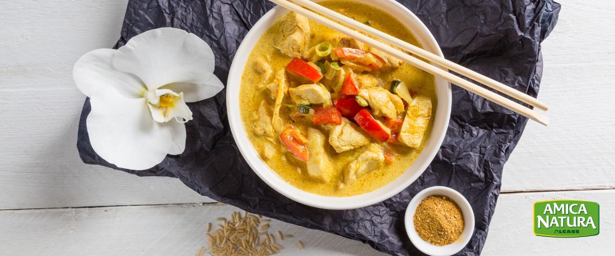 ricetta pollo al curry thailandese