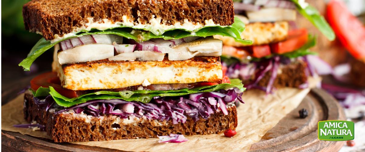 panino vegetariano leggero e sfizioso