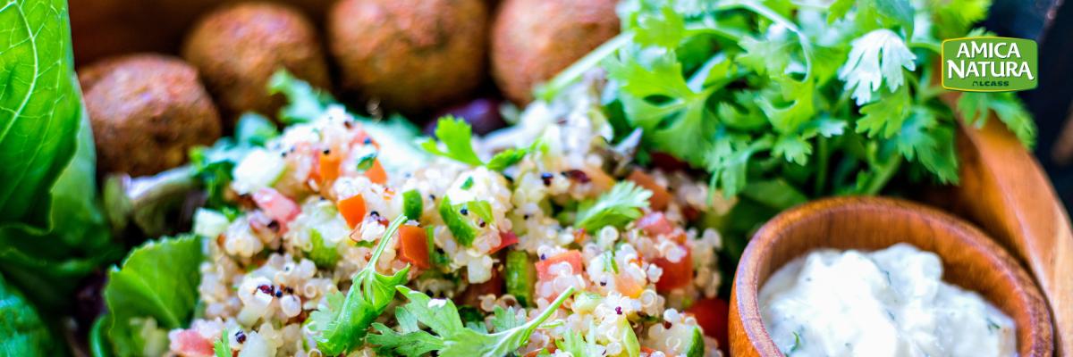 polpette di soia con quinoa
